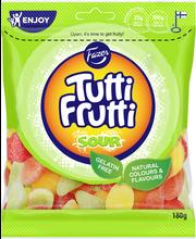 Tutti Frutti Sour 180g kirpeitä hedelmänmakuisia makeisia, makeissekoitus