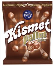 Kismet Pallot 160g kaakaotäytevohvelia ja maitosuklaanmakuista kuorrutetta, suklaamakeinen