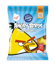 Fazer Angry Birds Yellow bird 120g pussi, makeissekoitus