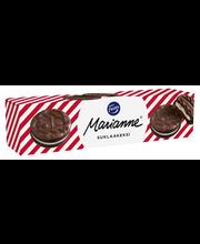 Fazer Marianne Suklaakeksi 192g/12kpl suklaakuorrutettu (14%) kaakaokeksi, jossa mintunmakuista täytettä, keksi