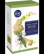 Fazer Sourcream-Chive Bites 160g ruohosipuli-hapankermakeksejä, 160g, n. 34kpl