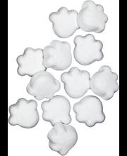 Lumipantteri 2,3kg salmiakki-vanilja tassu, vaniljan makuisia salmiakkilakritsimakeisia