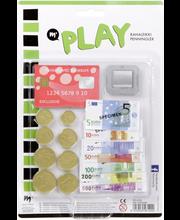 Play leikkiraha ja -pankkikortti