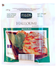 Filos 200g basilikahalloumi-juusto