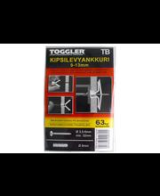 TOGGLER TB Levyseinäankkuri 9-13mm 5kpl/IP + ruuvit