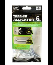 TOGGLER ALLIGATOR Kiinnike laipalla 6mm 5kpl/IP + ruuvit