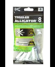TOGGLER ALLIGATOR Kiinnike laipalla 8mm 5kpl/IP + ruuvit
