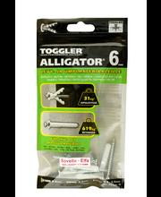 TOGGLER ALLIGATOR Kiinnike laipalla 6mm SOVELLA 5kpl/IP + ruuvit