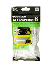TOGGLER ALLIGATOR Kiinnike 6mm laipalla 100kpl/IP
