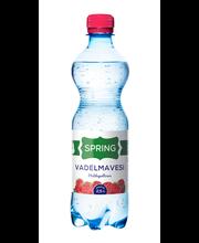 Spring Aqua 0,5l vadelman makuinen lähdevesi pohjainen juoma, makeutettu, hiilihapotettu