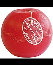 Finnmari Pallokynttilä huurre 10cm punainen