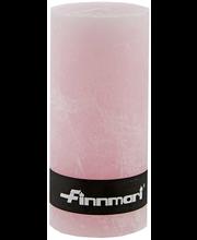Finnmari Huurre pöytäkynttilä 7x15cm vaaleanpunainen