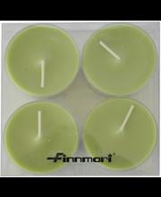 Finnmari Maxi muovilämpökynttilärasia, vihreä 4 kpl