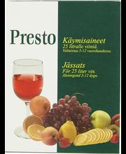 PRESTO Käymisaineet 25 l viiniä omista marjoista ja hedelmistä
