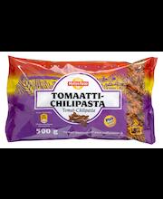 Myllyn Paras Tomaatti-Chilipasta 500 g tomaatti-chilimaustettu fusilli-kuvioinen pasta