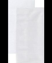 Helmiäiskorttipohja+kuori pitkä valkoinen 5kpl+5kpl