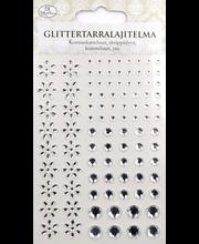 Glittertarra kukat/helmet