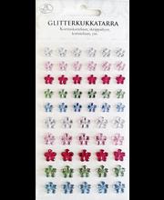 Glitterkukkatarra värilajitelma