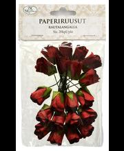 Primeco paperiruusut rautalangalla punainen 20kpl/pss