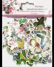 Askartelukuvio Iso Vintage 25kpl/pkt