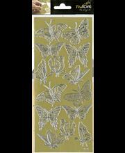 Ääriviivatarra Isot perhoset kulta