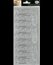 Ääriviivatarra Kutsu koriste hopea