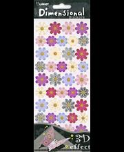 3D-tarra Värilliset kukat