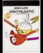Värityslehtiö muumi a4