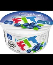 Maitokolmio FIT 150g mustikka laktoositon rahka