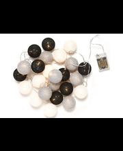 Decora Cotton Balls valosarja 24 lamppua, monivärinen