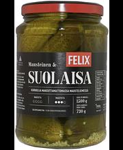 Felix 1500/730g suolakurkku kokonaisia kurkkuja mausteliemessä
