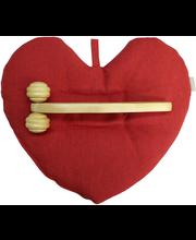 Sydän vehnätyyny ja rulla