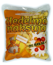 Laatupaakarin 90g Hedelmänaksuja pussi 0%suolaa 2%rasvaa napostelutuote