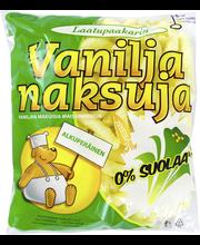 Laatupaakarin 90g Vaniljanaksuja pussi 0%suolaa 2%rasvaa napostelutuote