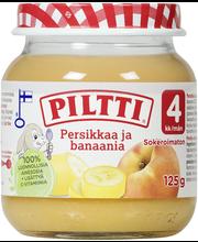 Piltti 125g Persikkaa ja banaania hedelmäsose 4kk
