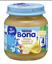 Nestlé Bona 125g Omenaa, banaania ja appelsiinia hedelmäsose 4kk