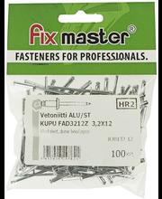 Fix Master vetoniitti alumiini 3,2X12 100kpl
