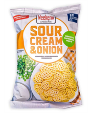 Weekend Snacks Sour Cream & Onion 180g Kermanviilin- ja sipulinmakuinen perunasnacks