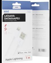 Wave lataava datakaapeli iPhonelle ja iPadille 1 m