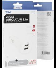 Wave microusb autolaturi 3.1a 2xusb