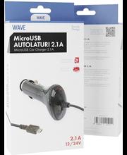 Wave autolaturi microusb 2.1 a. 12/24v