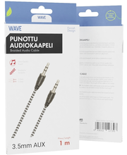 Wave punottu audiokaapeli 3,5mm