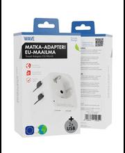 Matka-adapteri, valkoinen