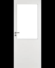 Kevytlaakaovi Easy 205/L 9x21 oikea maalattu valkoinen kirkas lasi