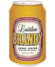 Laitilan Brändy 5,5% 0,33L long drink with French brandy