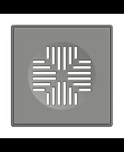 Vieser neliökansi, harmaa 200x200