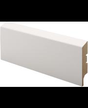Jalkalista siru mdf 16x65x2750 mel valkoinen