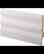 Jalkalista laine mdf 16x92x2750 mel valkoinen