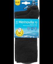 M.ohut merinovilla sukka