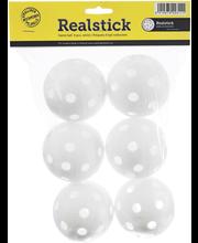 Realstick salibandypallo 6kpl valkoinen